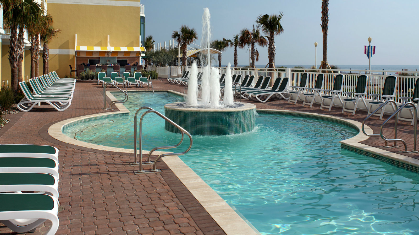 Outdoor Oceanfront Pool At Sheraton Virginia Beach Hotel