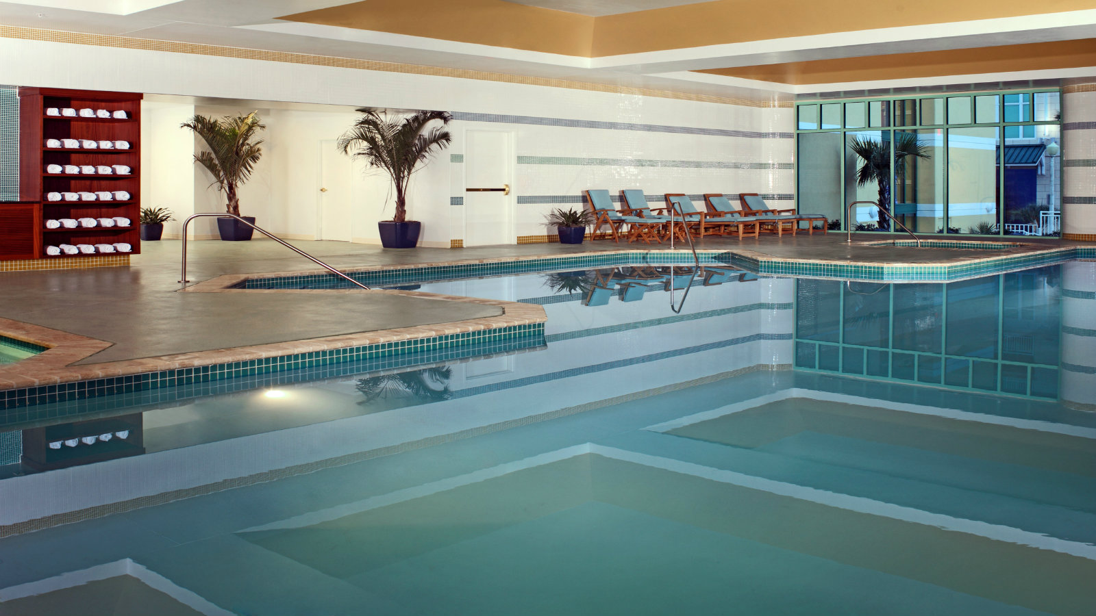 Indoor pool at Sheraton Virginia Beach Oceanfront Hotel