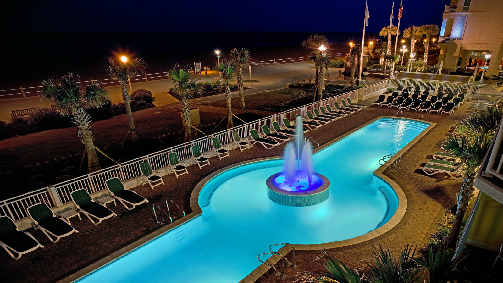 Outdoor oceanfront pool at Sheraton Virginia Beach Oceanfront Hotel