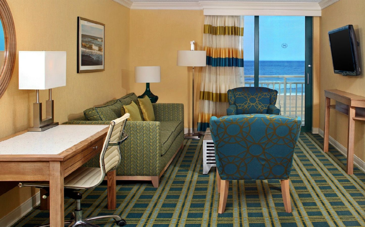 Living Room Furniture Virginia Beach one bedroom deluxe suite | sheraton virginia beach oceanfront hotel